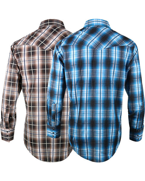 Ely Cattleman Men's Assorted Textured Plaid Shirt , Multi, hi-res