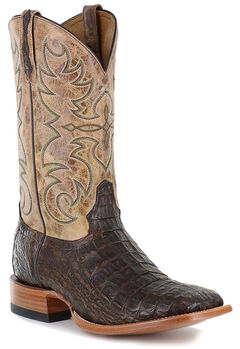 Cody James Men's Crackled Caiman Exotic Boots - Square Toe, , hi-res