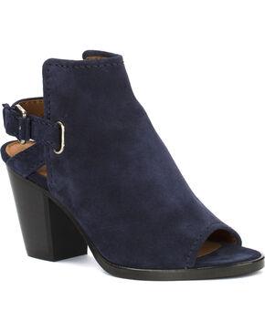 Frye Women's Navy Dani Shield Sling Shoes , Navy, hi-res