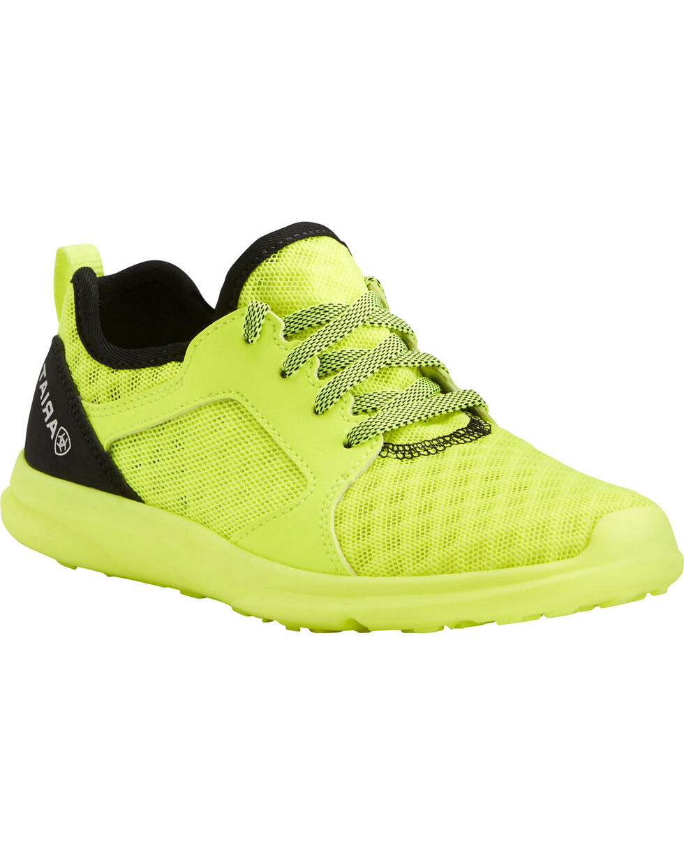 Ariat Boys' Fuse Neon Yellow Mesh Shoes, , hi-res
