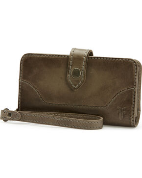 Frye Women's Melissa Phone Wallet , Grey, hi-res