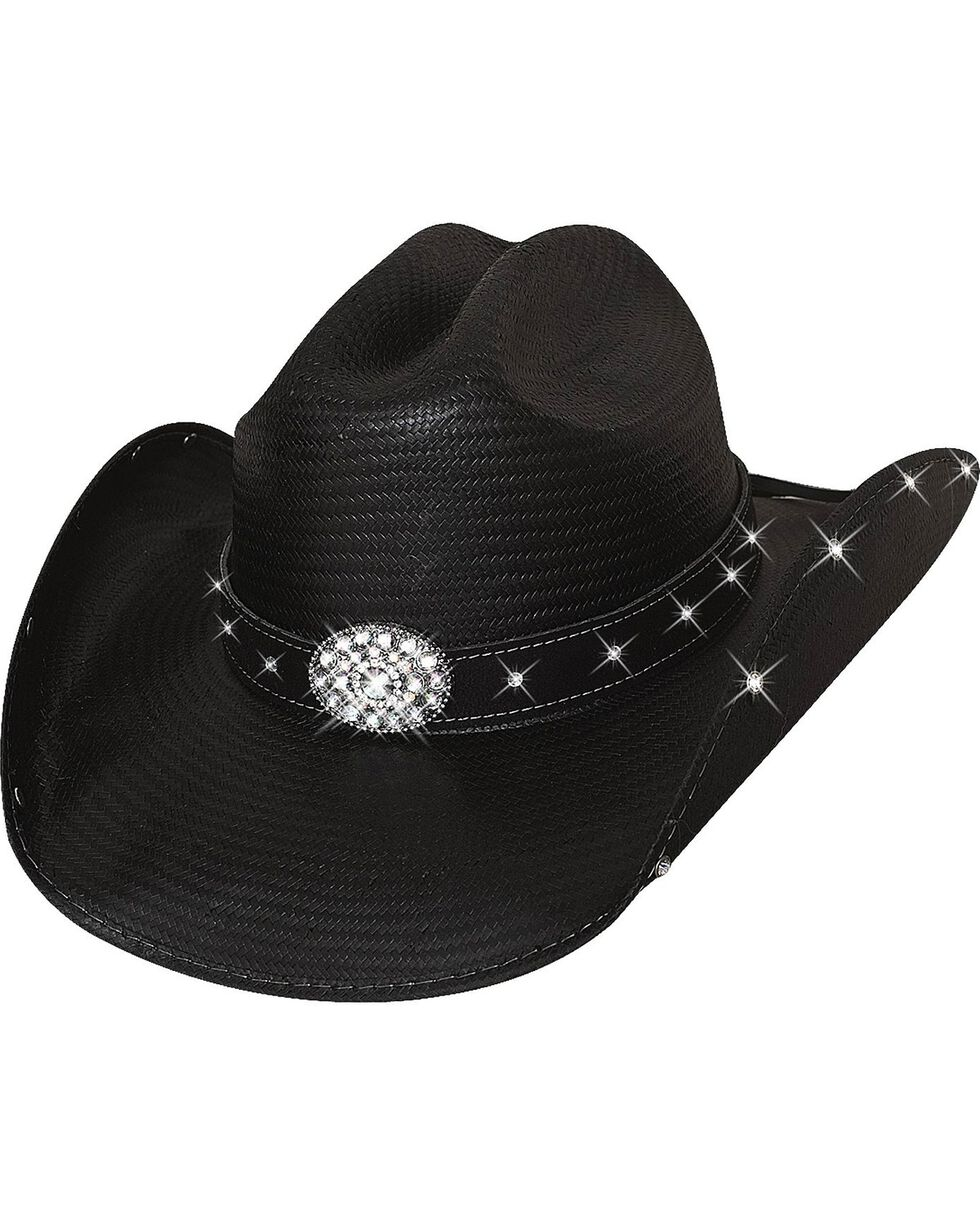 Bullhide Terri Clark Here For a Good Time Straw Cowgirl Hat, Black, hi-res