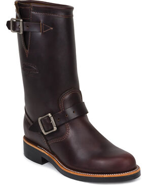 "Chippewa Women's Cognac 11"" Engineer Boots - Round Toe, Cognac, hi-res"