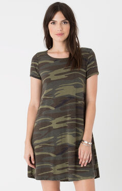 Z Supply Women's Green Connor Camo Dress , Camouflage, hi-res