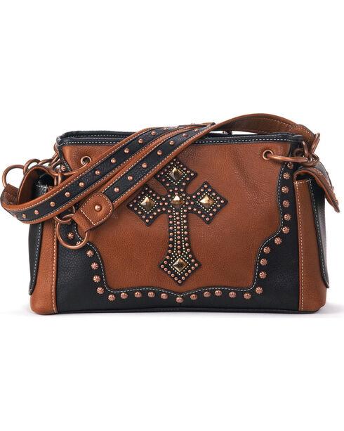 Blazin Roxx Women's Delilah Cross Satchel Bag , Rust Copper, hi-res