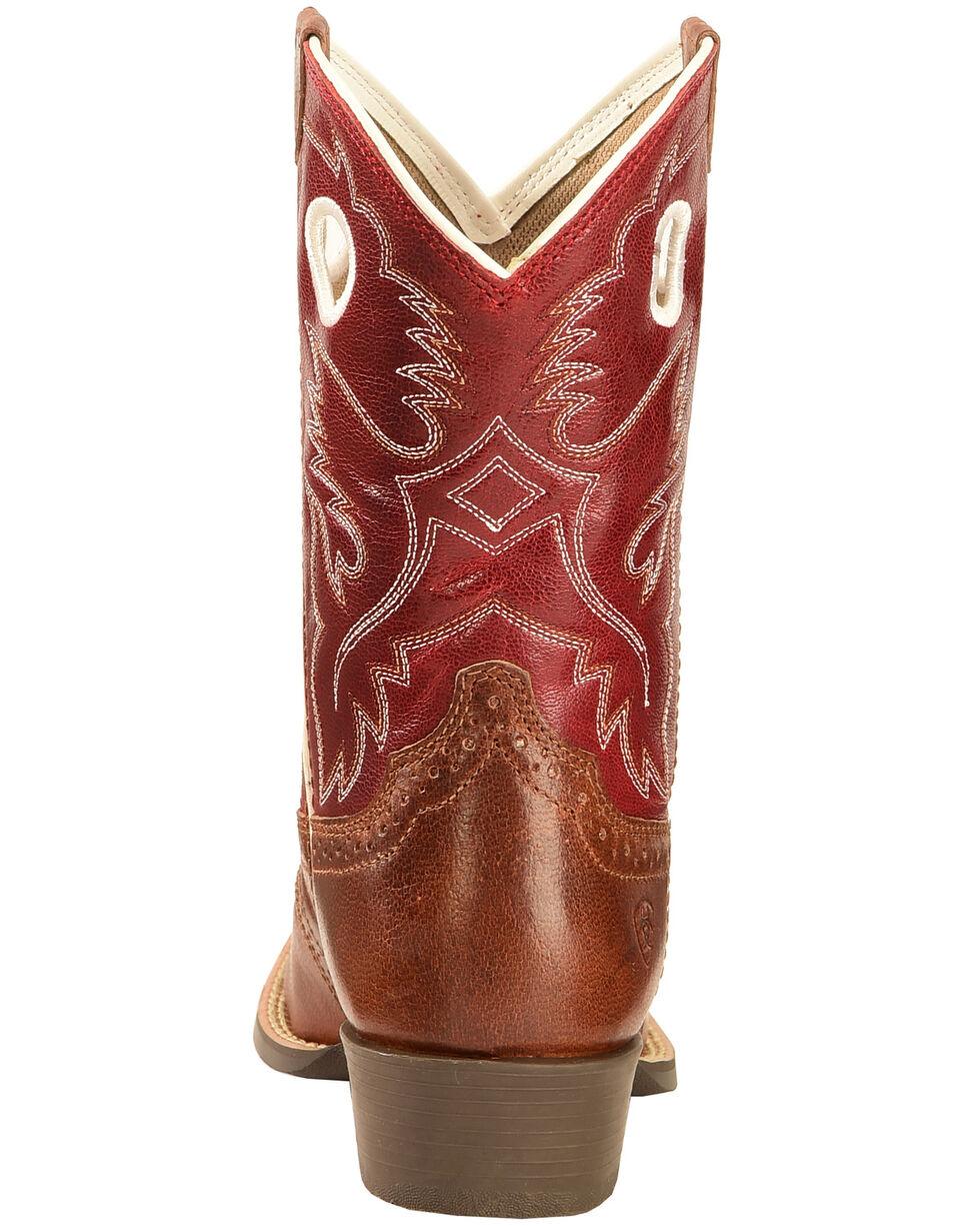 Ariat Boys' Tan Roughstock Cowboy Boots - Square Toe , Tan, hi-res
