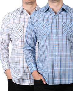 Ely Cattleman Men's Assorted Small Checkered Western Shirt, Multi, hi-res