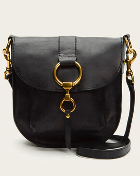 Frye Women's Black Ilana Saddle Bag , Black, hi-res