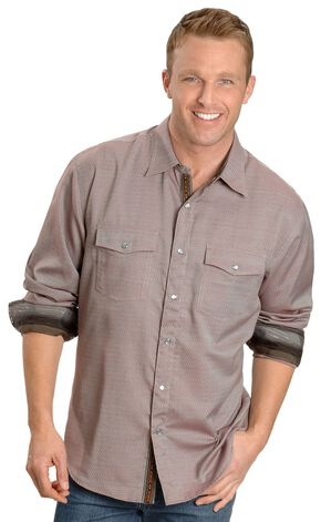 Scully Diamond-shaped Dobby Western Shirt, Rust, hi-res
