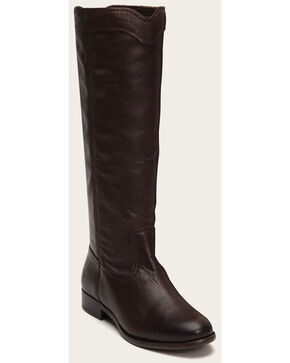 Frye Women's Cara Roper Mid Calf Boots - Round Toe , Chocolate, hi-res