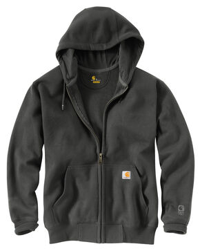 Carhartt Rain Defender Paxton Zip Front Hooded Sweatshirt - Big & Tall, Bark, hi-res