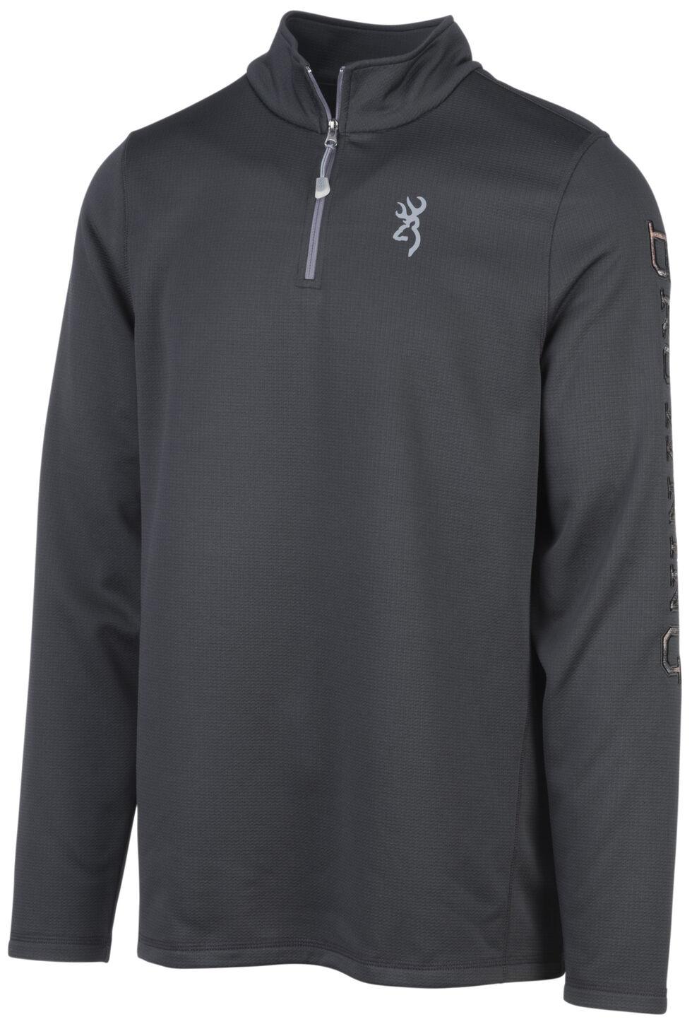 Browning Men's Black Pitch Quarter Zip Pullover , Black, hi-res