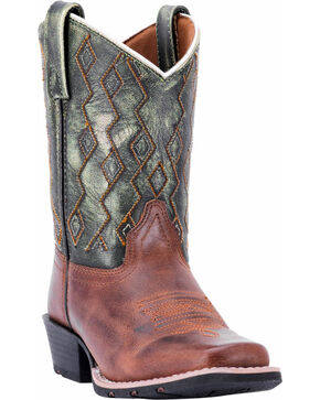 Dan Post Youth Boys' Teddy Western Boots - Square Toe, Rust Copper, hi-res