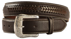 Ariat Constrasting Leather Laced Overlay Belt, , hi-res