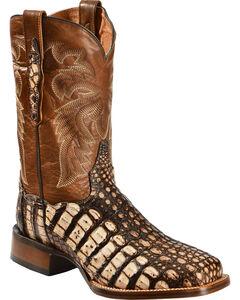 Dan Post Camel Everglades Caiman Cowboy Boots - Square Toe, , hi-res