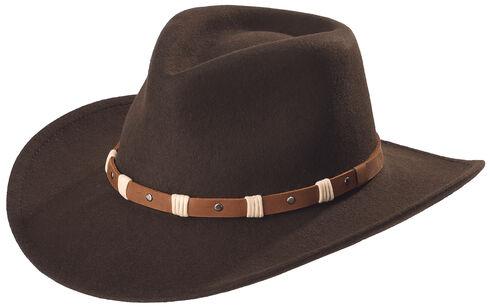 Black Creek Black Crushable Wool Felt Hat, Cordovan, hi-res