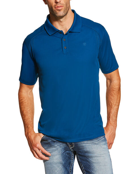 Ariat Men's Everland Teal AC Polo, Teal, hi-res