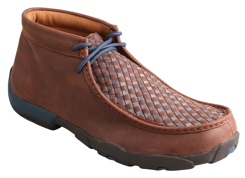 Twisted X  Men's Brown Woven Driving Mocs , Brown, hi-res