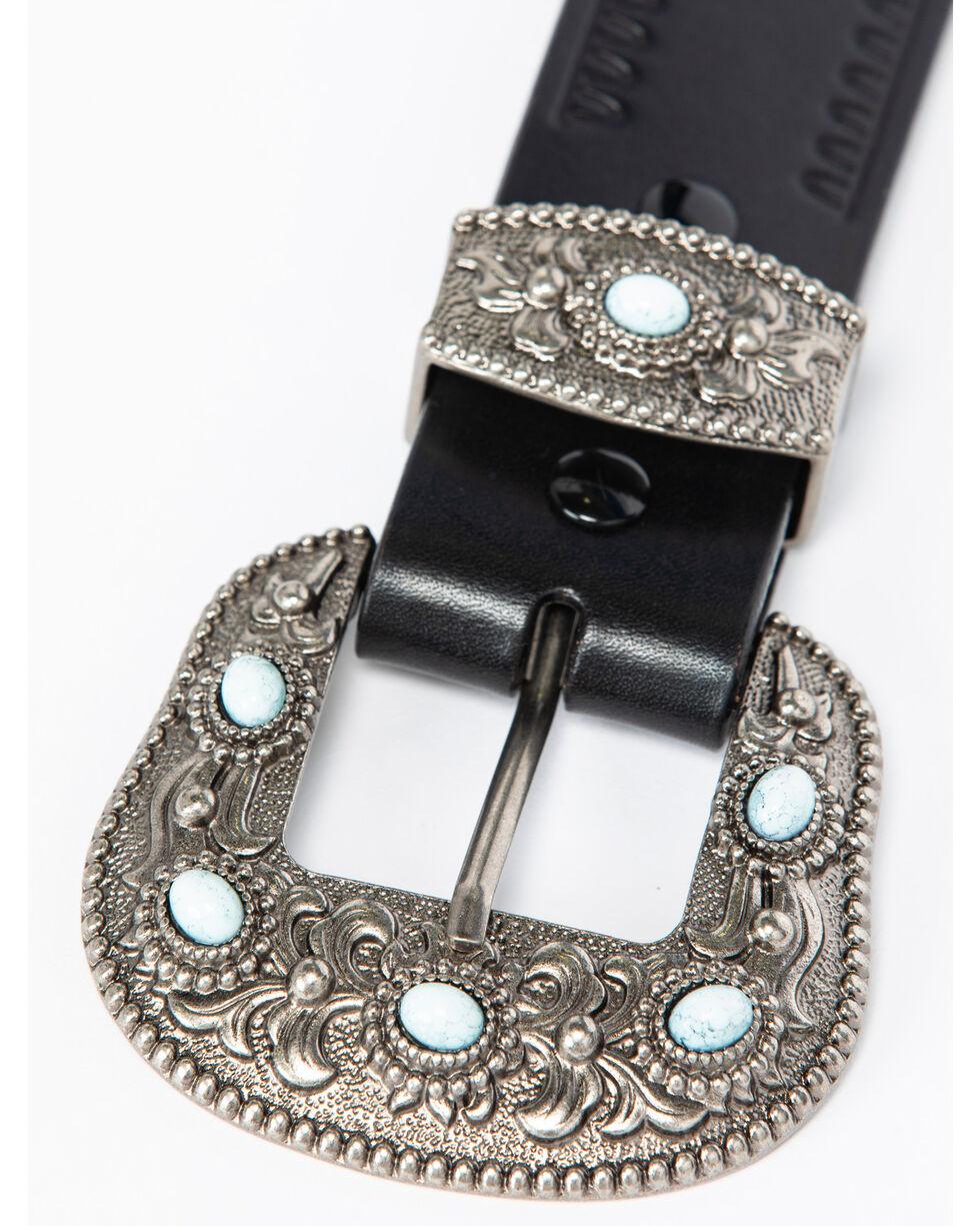 Shyanne Women's Multi-Loop Leather Belt, Black, hi-res