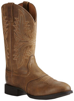 Ariat Men's Brown Heritage Hackamore Boots - Round Toe, , hi-res
