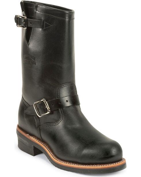 Chippewa Men's Whirlwind Black Engineer Boots - Steel Toe, , hi-res