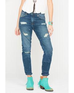 MM Vintage Women's Indigo Eve Boyfriend Jeans - Straight Leg , Indigo, hi-res