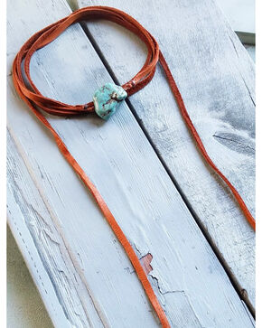 Jewelry Junkie Women's Wrap Around Turquoise Chunk Choker , Turquoise, hi-res