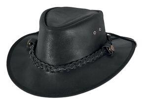Bullhide Men's Cessnock Leather Hat, Black, hi-res