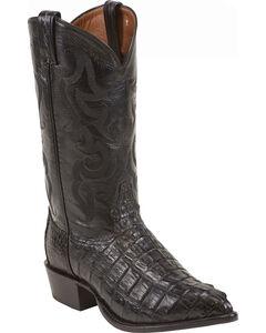 Tony Lama Caiman Tail Cowboy Boots, Black, hi-res