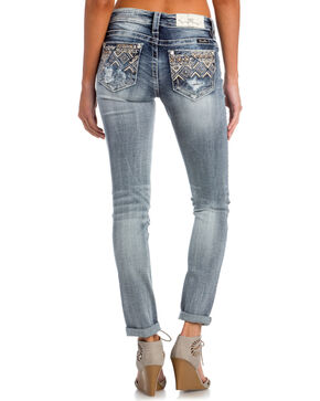 Miss Me Women's Indigo After Party Embellished Jeans - Skinny , Indigo, hi-res