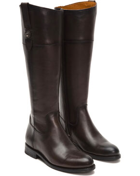 Frye Women's Graphite Jayden Button Tall Boots  , Dark Grey, hi-res