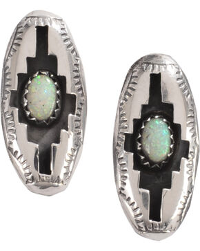 M & S Turquoise Felix Perry Blessing Sterling Silver Earrings, Silver, hi-res
