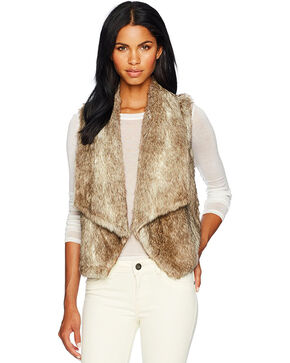 Jack Women's Taupe Dwight Faux Fur Vest , Taupe, hi-res