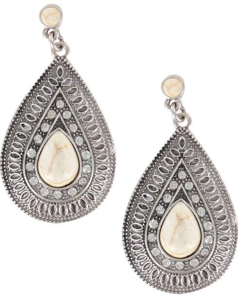 Shyanne Women's Vintage Tear Drop Earrings, Cream, hi-res