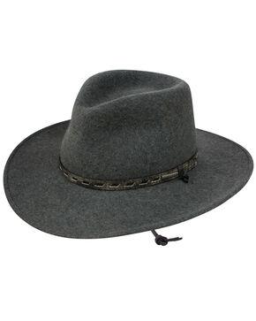 Stetson Men's Saginaw Crushable Wool Hat, Grey, hi-res