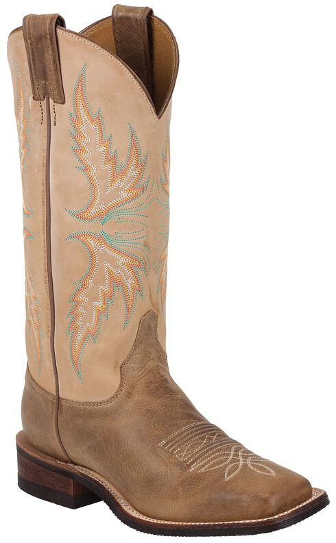 Justin Bent Rail Camel Cowgirl Boots - Square Toe, Camel, hi-res