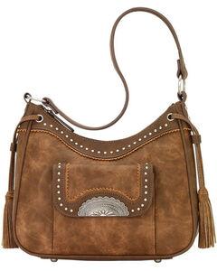 Bandana Women's Guns & Roses Conceal Carry Shoulder Bag , Medium Brown, hi-res