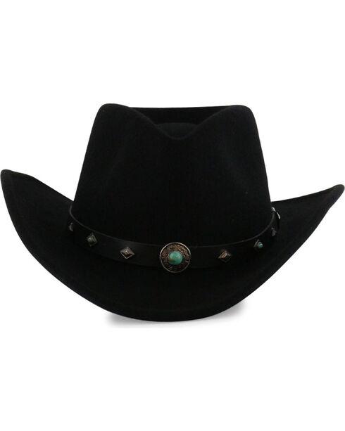 Cody James Men's Santa Ana Wool Hat, Black, hi-res