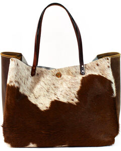 SouthLife Supply Women's Shiloh Cowhide Medium Bucket Bag, Multi, hi-res