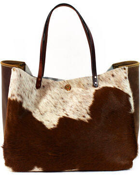 SouthLife Supply Women's Shiloh Cowhide Medium Bucket Bag, Multi, hi-res