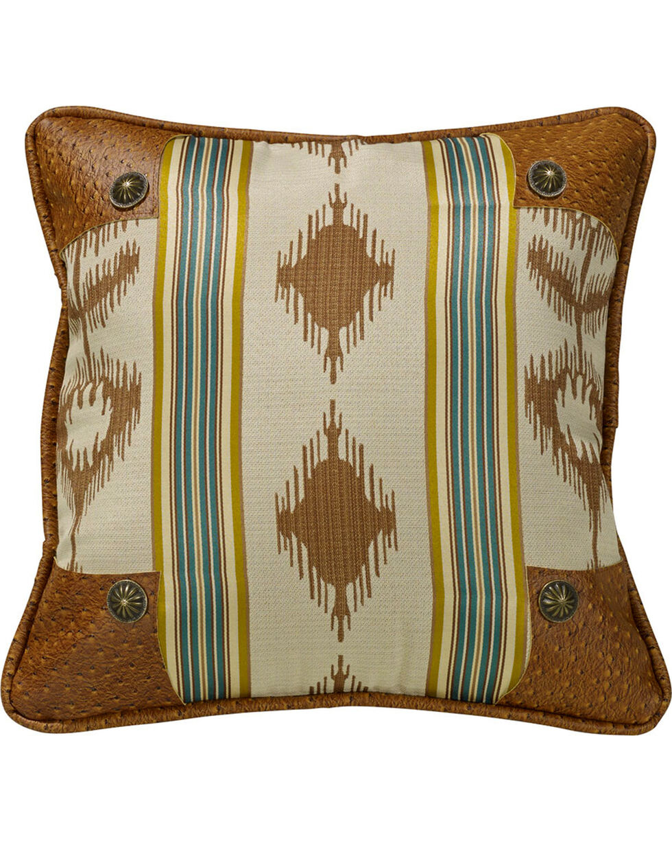 HiEnd Accents Alamosa Pillow with Conchos, Multi, hi-res