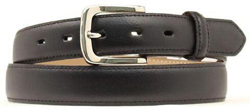 Smooth Leather Belt, Black, hi-res