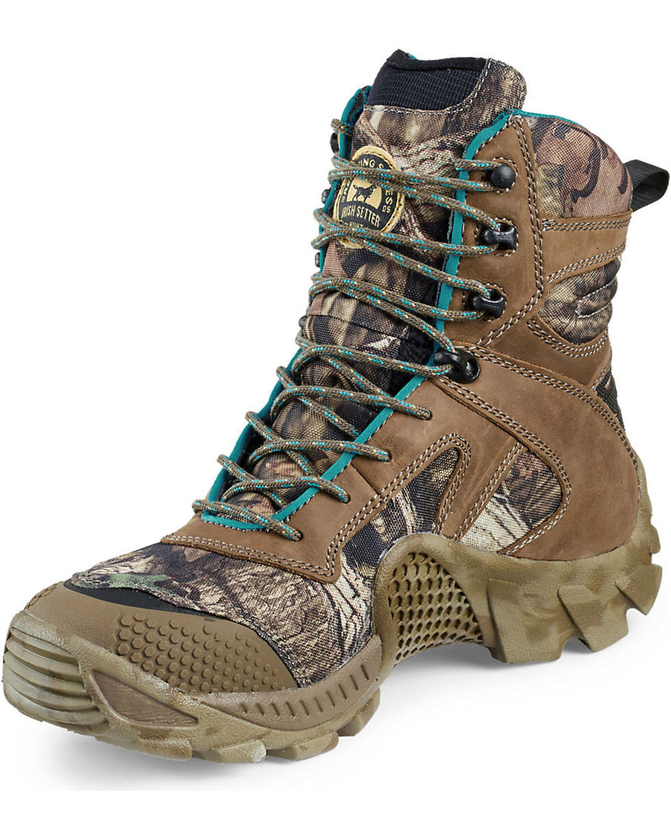 "Irish Setter by Red Wing Shoes Women's Mossy Oak Vaprtrek Insulated Waterproof 8"" Boots, Camouflage, hi-res"