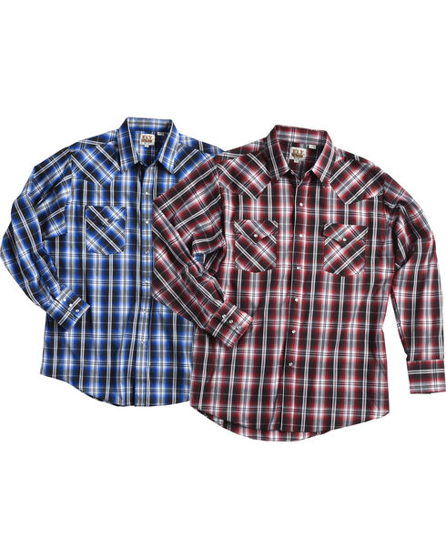Ely Cattleman Men's Assorted Texture Plaid Shirt, Multi, hi-res