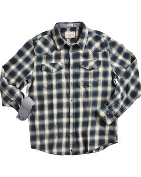 Cody James Men's Plaid Bobcat Long Sleeve Flannel, Green, hi-res