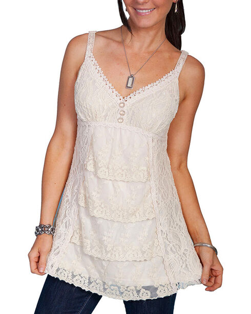 Scully Women's Lace Camisole Top, Ivory, hi-res