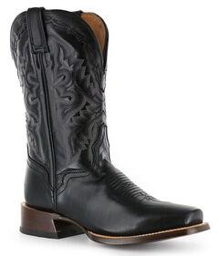 El Dorado Black Vanquished Calf Cowboy Boots - Square Toe, , hi-res