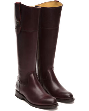Frye Women's Bordeaux Jayden Button Tall Boots  , Wine, hi-res