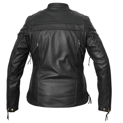 Interstate Leather Women's Moxie Leather Scooter Jacket - Plus Size, Black, hi-res