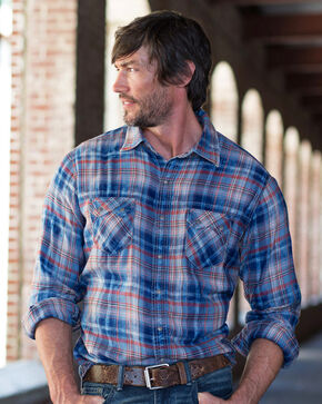 Ryan Michael Men's Indigo Clay Plaid Shirt , Indigo, hi-res